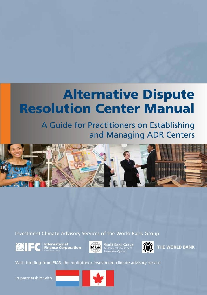 alternative dispute resolution paper National alternative dispute resolution advisory council the development of standards for adr discussion paper march 2000.