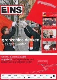 grenzenlos denken - E1NS-Magazin