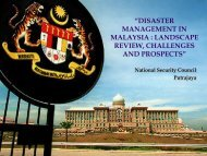 disaster management in malaysia : landscape review - Jabatan ...