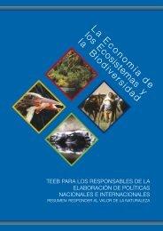 La Econom ía de los Ecosistem as y la Biodiversidad - TEEB