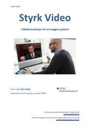 Under arbeid forprosjekt Styrk Video