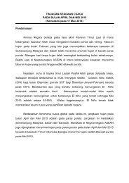 Laporan Monsun Terkini - Jabatan Meteorologi Malaysia