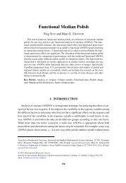 Functional Median Polish - Spatio-Temporal Statistics & Data Analysis