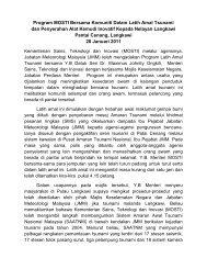 Program MOSTI Bersama Komuniti Dalam Latih Amal Tsunami dan ...