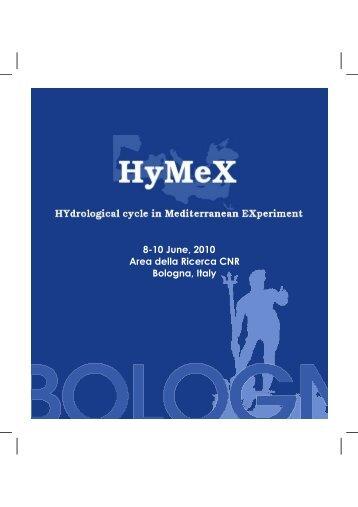 8-10 June, 2010 Area della Ricerca CNR Bologna, Italy - HyMeX