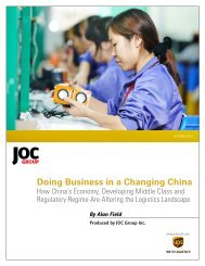 Doing Business in a Changing China - Journal of Commerce