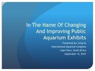In The Name Of Changing And Improving Public Aquarium Exhibits