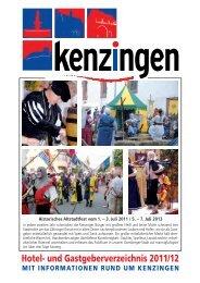 Hotel- und Gastgeberverzeichnis 2011/12 - Kenzingen