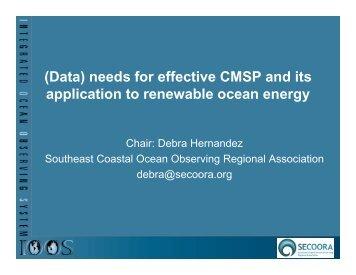 Debra Hernandez, Southeast Coastal Ocean Observing Regional ...