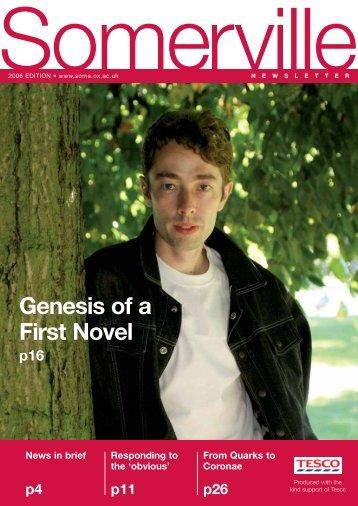 Genesis of a First Novel - Somerville On Line