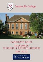 Somerville College Candidate Brief10