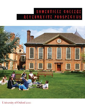 Somerville College AlternAtive ProSPeCtuS