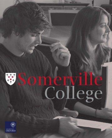 5819 Somerville Prospectus 5.indd - Somerville College - University ...
