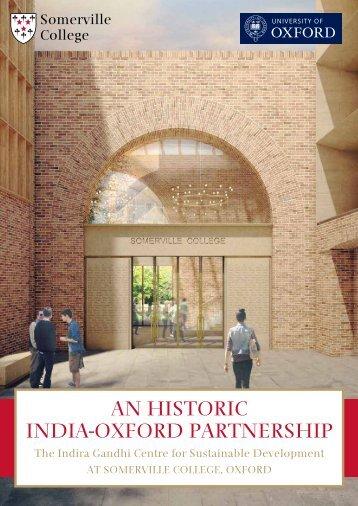 An historic indiA-oxford pArtnership - Somerville College - University ...