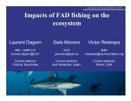 Impacts of FAD fishing on the ecosystem