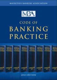 Code of banking practice - Mauritius Bankers Association Limited