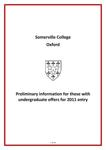 Somerville College - University of Oxford