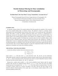 Particle Kalman Filtering for Data Assimilation in Meteorology and ...