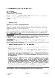 Compte-rendu de la réunion du 8 octobre 2008 - Division Technique ...