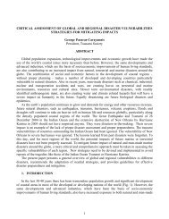 vulnerabilities - strategies for mitigating impacts - Disaster Pages of ...
