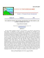 SCIENCE OF TSUNAMI HAZARDS - Disaster Pages of Dr George, PC