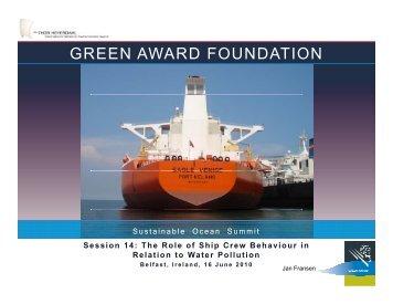 GREEN AWARD FOUNDATION - World Ocean Council