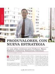 Produvalores con nueva estrategia - Ekos Negocios