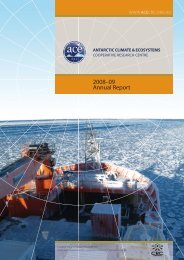 2008–09 Annual Report - Antarctic Climate and Ecosystems ...
