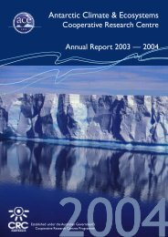 Annual Report 2003 - Antarctic Climate and Ecosystems ...