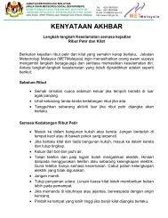 KENYATAAN MEDIA - Jabatan Meteorologi Malaysia