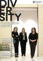 Read full 2013 Diversity & Inclusion Report - Davis Wright Tremaine
