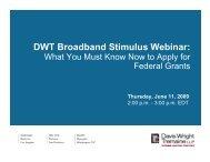 DWT Broadband Stimulus Webinar: