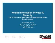 Health Information Privacy & Security - Davis Wright Tremaine