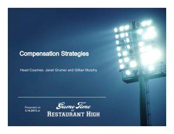 Compensation Strategies