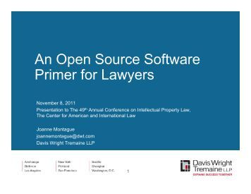 An Open Source Software Primer for Lawyers - Davis Wright Tremaine