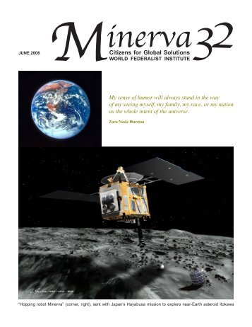 Minerva, Spring 2008 (Volume 32) - Citizens for Global Solutions