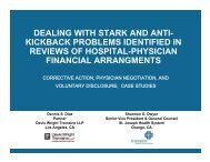 Dealing with Problems Identified in Audits of Hospital-Physician ...