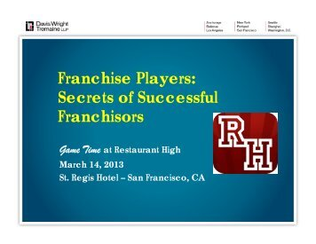 Secrets of Successful Franchisors - Davis Wright Tremaine
