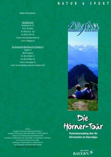 Die Hörner-Tour Die Hörner-Tour - Allgäu