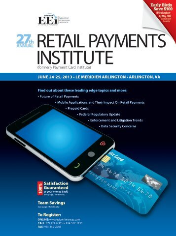 RETAIL PAYMENTS INSTITUTE - Davis Wright Tremaine