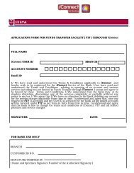 APPLICATION FORM FOR FUNDS TRANSFER FACILITY - Axis Bank