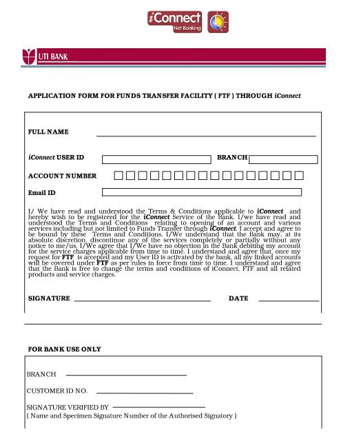 axis bank sign up form
