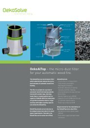 OekoAlTop – the micro-dust filter for your automatic ... - OekoSolve AG