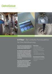 U-Filter– Der einfache Feinstaubfilter für Ihre ... - OekoSolve AG