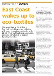 Material World New York, East Coast Wakes Up to Eco ... - FabricLink