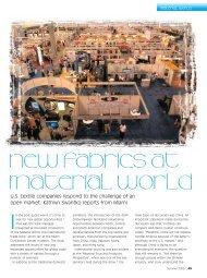 New fabrics at Material World - FabricLink
