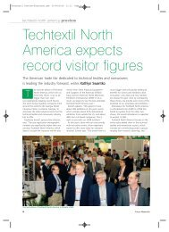 TechTextil North America is Leading the Industry ... - FabricLink