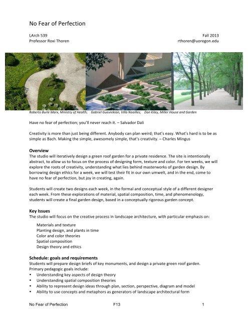 La 539 Landscape Architecture Design Process Studio Thoren