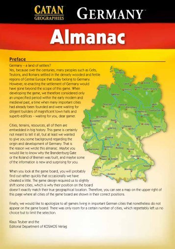 Catan Geographies: Germany Almanac (V1_0) - Mayfair Games