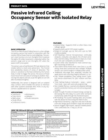 passive infrared ceiling occupancy sensor with isolated relay leviton?quality\\\=85 occupancy sensor wiring diagram & magnificent lutron occupancy leviton ossmt wiring diagram at sewacar.co